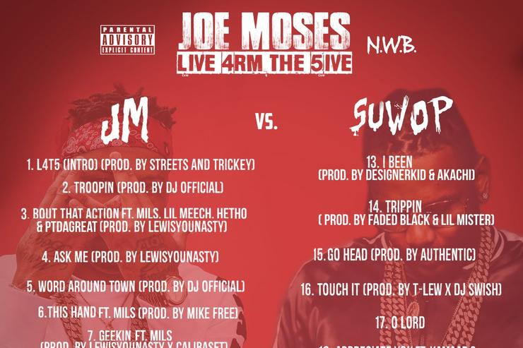 """tracklist for Joe Moses """"Live 4rom The 5ive"""""""