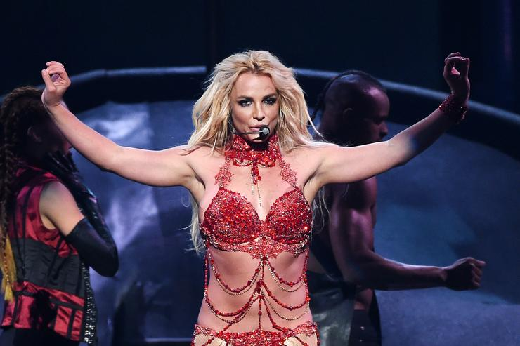 Britney Spears performing at Billboard Music Awards