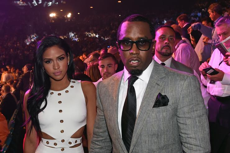 Cassie & Diddy at Mayweather vs Pacquiao