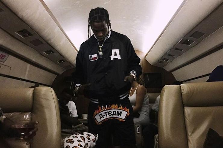 Travis Scott on a private jet