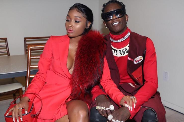 Young Thug and his fiancee Jerrika Karlae