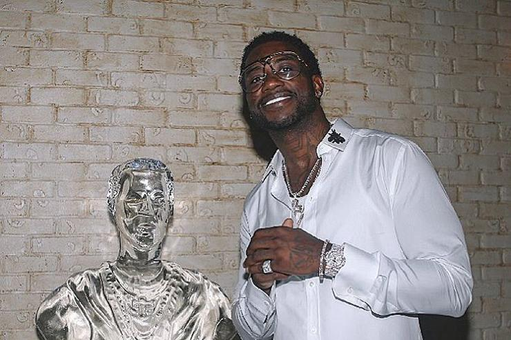 Gucci Mane and a WOPTOBER ice sculpture