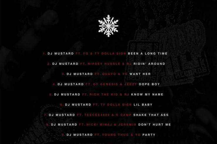 "back tracklist of DJ Mustard's ""Cold Summer"""
