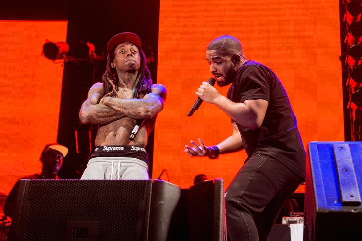 Drake and Lil Wayne at Lil Weezyana Fest