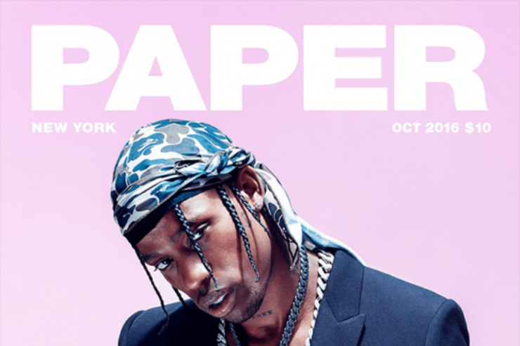 Travis Scott via Paper Magazine