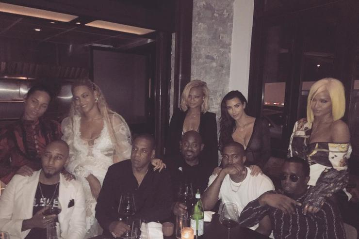 Kim K, Kanye West, Jay Z, Beyonce, Alicia Keys, Swizz Beats Diddy & Cassie