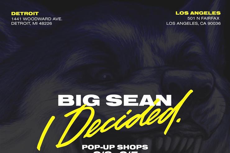 Big Sean pop-up shop flyer