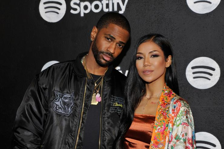 apper Big Sean and singer Jhene Aiko attend the Spotify Best New Artist Nominees celebration at Belasco Theatre on 9, 2017 in Los Angeles, California.