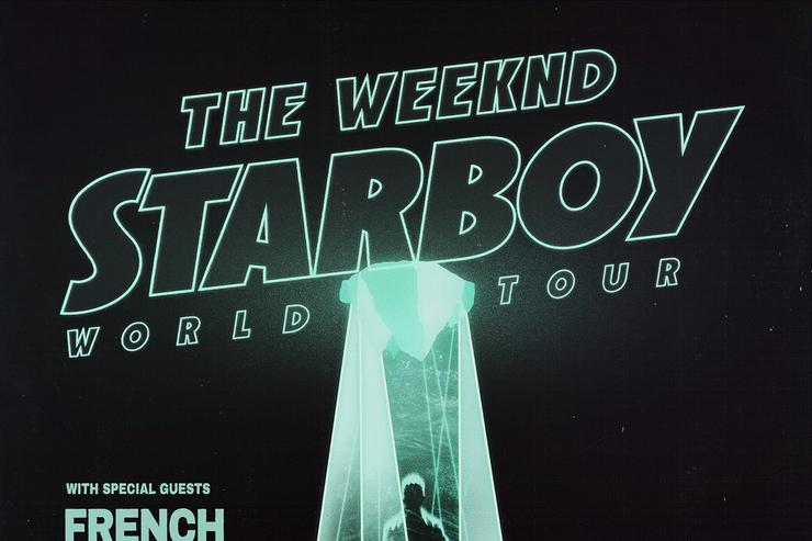 The Weeknd tour flyer